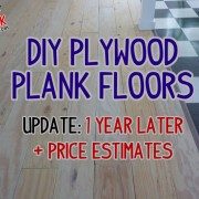 How our plywood floors held up after a full year, plus price estimates
