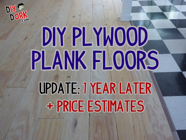 Diy Plywood Floors 1 Year Later