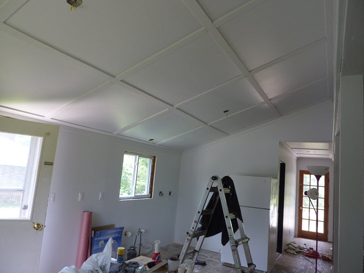 The walls and board & batten ceilings are painted