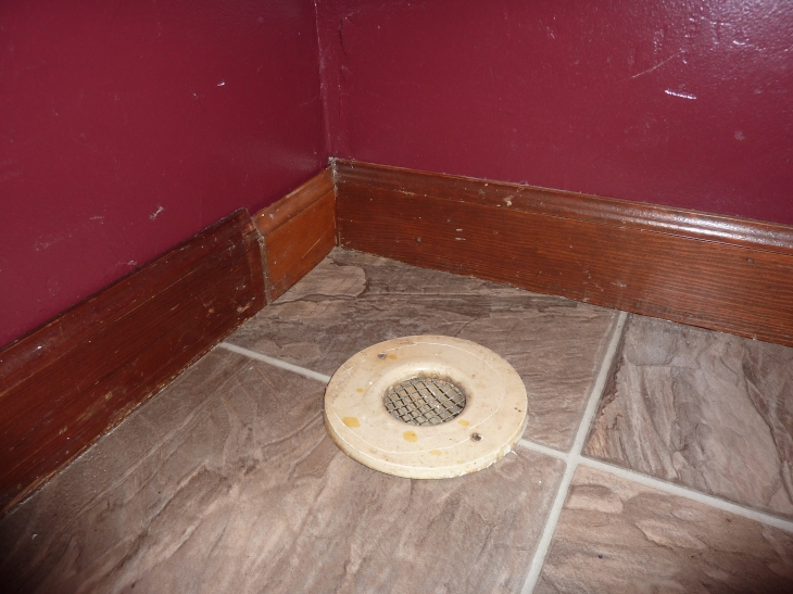 The gross air vents in the floor and the floor trim hack job.