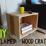 How to Build a Reclaimed Wood Crate Table