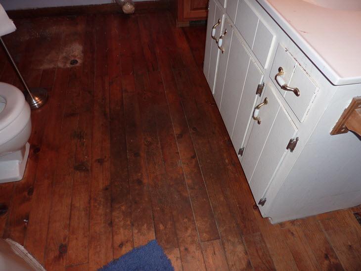 The World's Grosses Wooden Bathroom Floor?