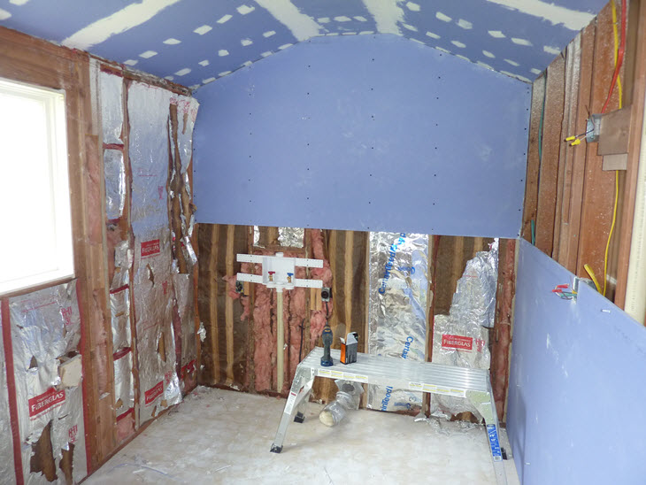 Drywalling the Bathroom with Mold Resistant Drywall