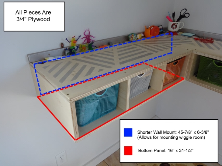 Wall Mounted Stand Up Desk Short Side Hidden Dimensions