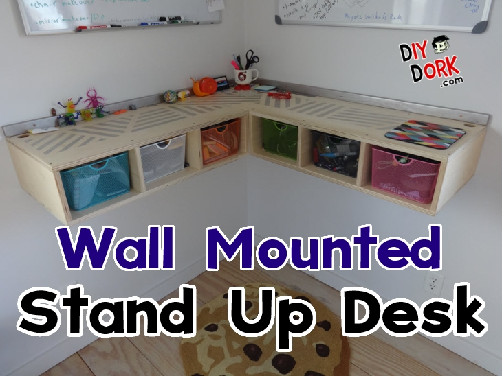 How To Build A Wall Mounted Stand Up Desk Diydorkcom