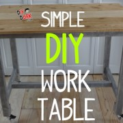 Build a Simple DIY Work Table