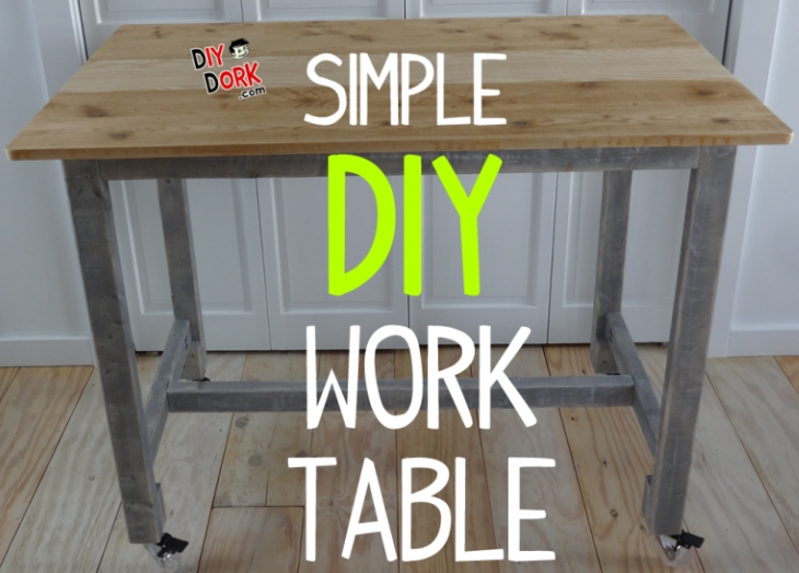 How to Build a Simple, Low Cost, Work Table with Reclaimed Wood ...