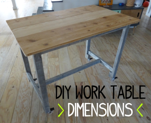 DIY Work Table Dimensions