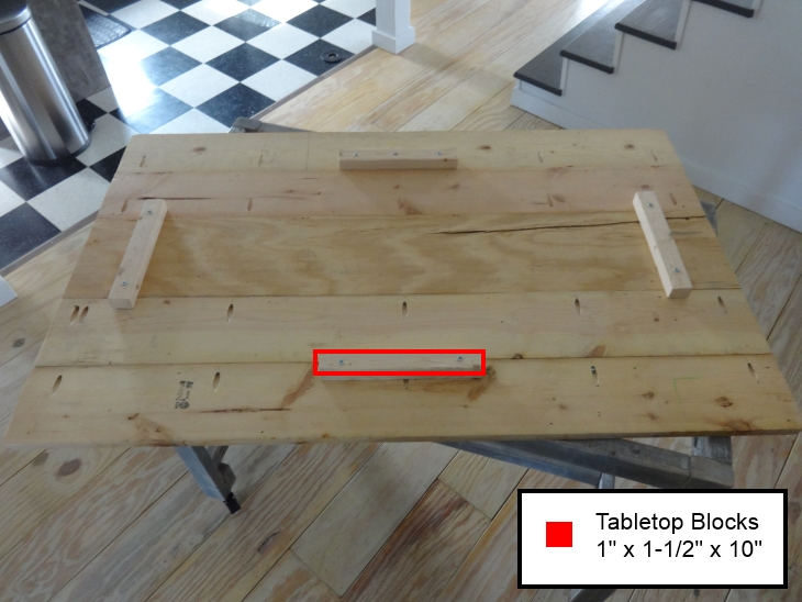 DIY Work Table Removable Top Placement Blocks