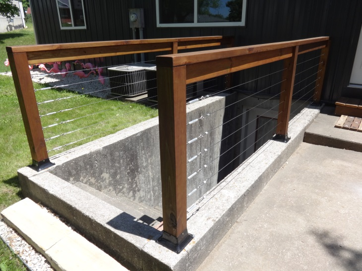 Our Finished Aircraft Cable Railing Installation