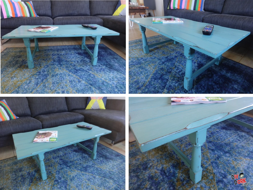Distressed Chalk Painted Coffee Table