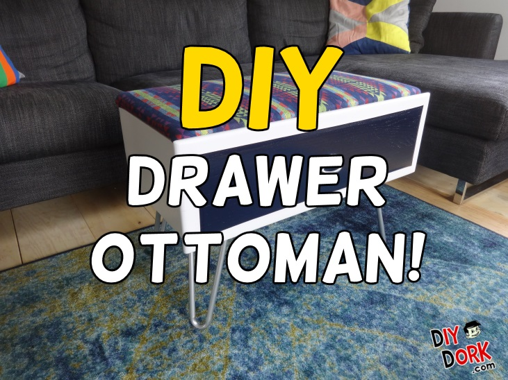 Old Dresser Drawer Storage Ottoman Makeover