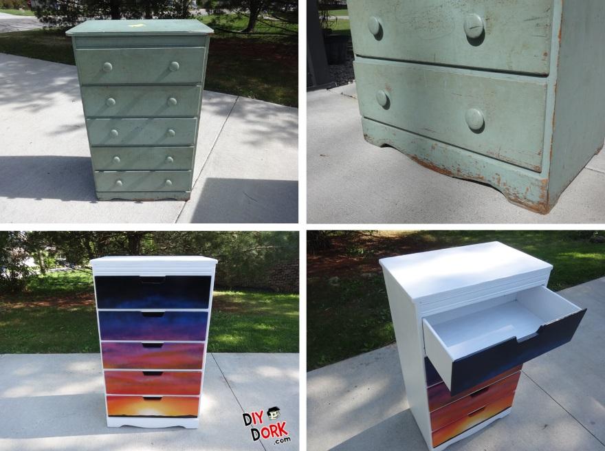 Sunset Dresser Makeover - Before & After