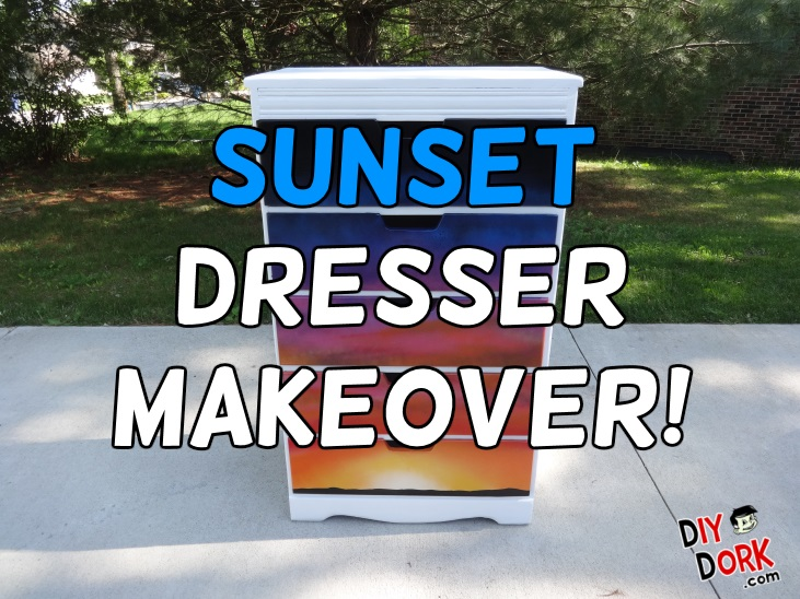 Vintage Dresser Sunset Paint Makeover
